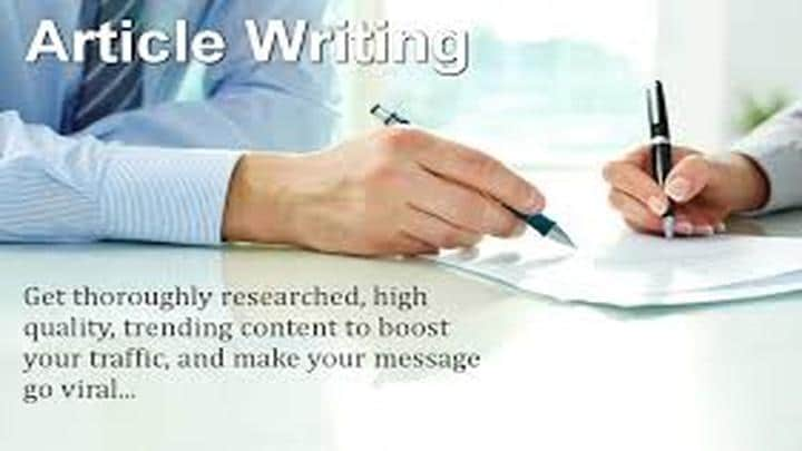 Article Writing Services In canada