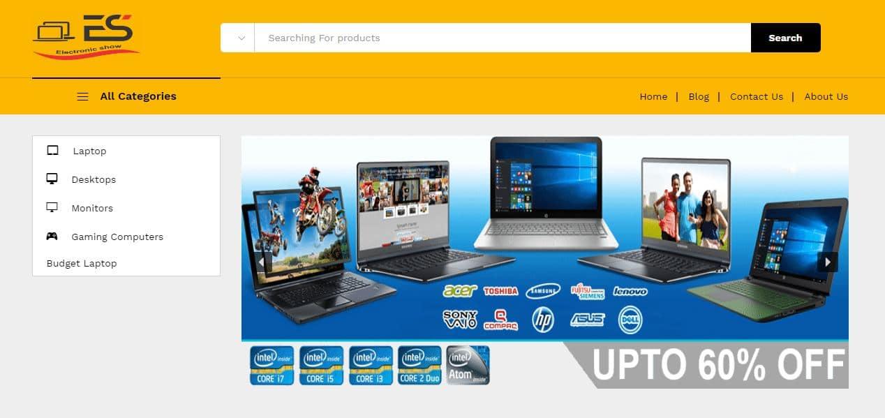 electronic-Store Portfolio